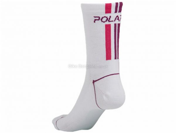 Polaris Ladies Vela Italian CoolMax Socks 2 Pack S,M, White, Blue, Purple, Ladies, Polyester, Elastane