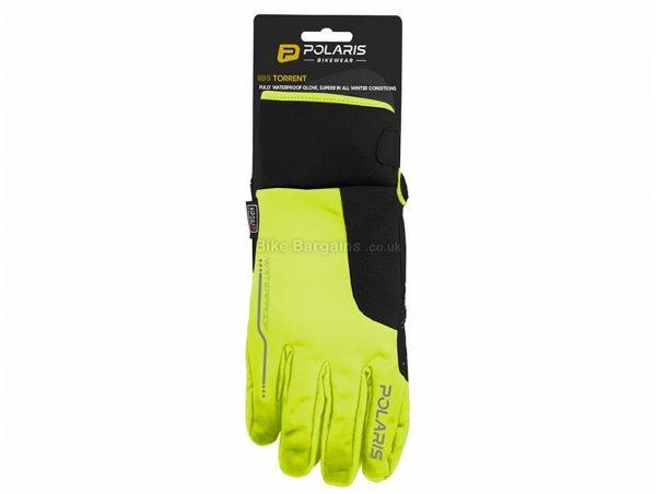 Polaris RBS Torrent Waterproof Gloves XL, Yellow, Black, Unisex, Full Finger, Neoprene, Polyester