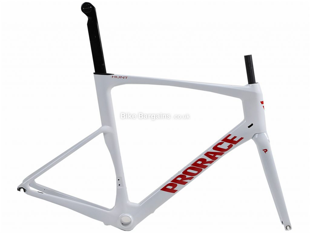 Prorace Hunt Carbon Frame XXL, White, Red, 700c, Caliper Brakes, Carbon
