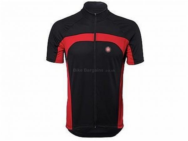 Ride Clothing Napoli Norb Short Sleeve Jersey S, Black, Red, Men's, Short Sleeve, Polyester