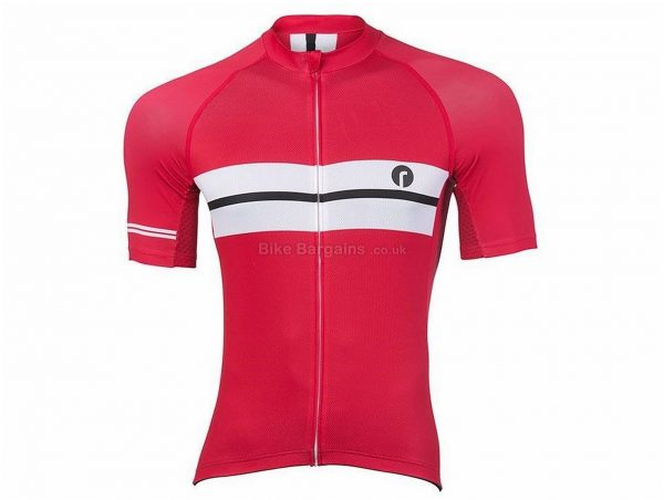 Ride Clothing Tec Red Short Sleeve Jersey S,M,XL, Red, White, Men's, Short Sleeve, Polyester