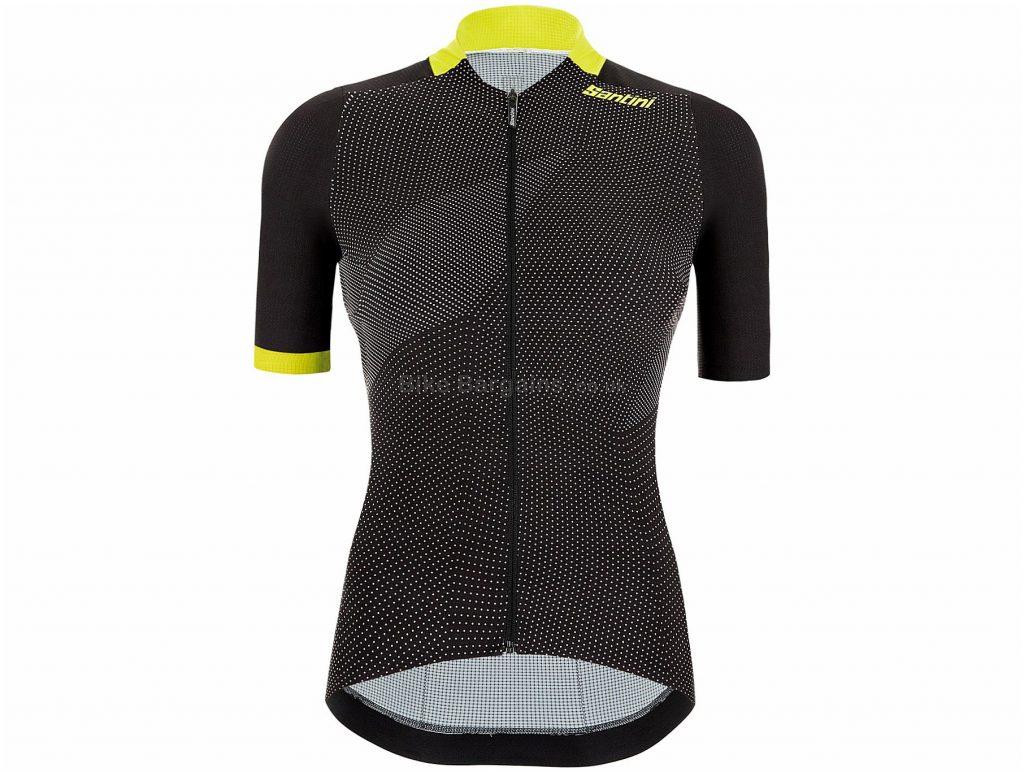 Santini Ladies Redux Genio Short Sleeve Jersey XS,M,L,XL, Pink, Black, Ladies, Short Sleeve, Polyester, Elastane
