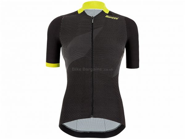 Santini Ladies Redux Genio Short Sleeve Jersey M,XL, Pink, Black, Ladies, Short Sleeve, Polyester, Elastane