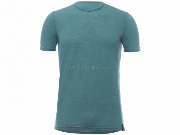 Santini Wool Tech Short Sleeve Baselayer M, Green, Men's, Short Sleeve, Wool