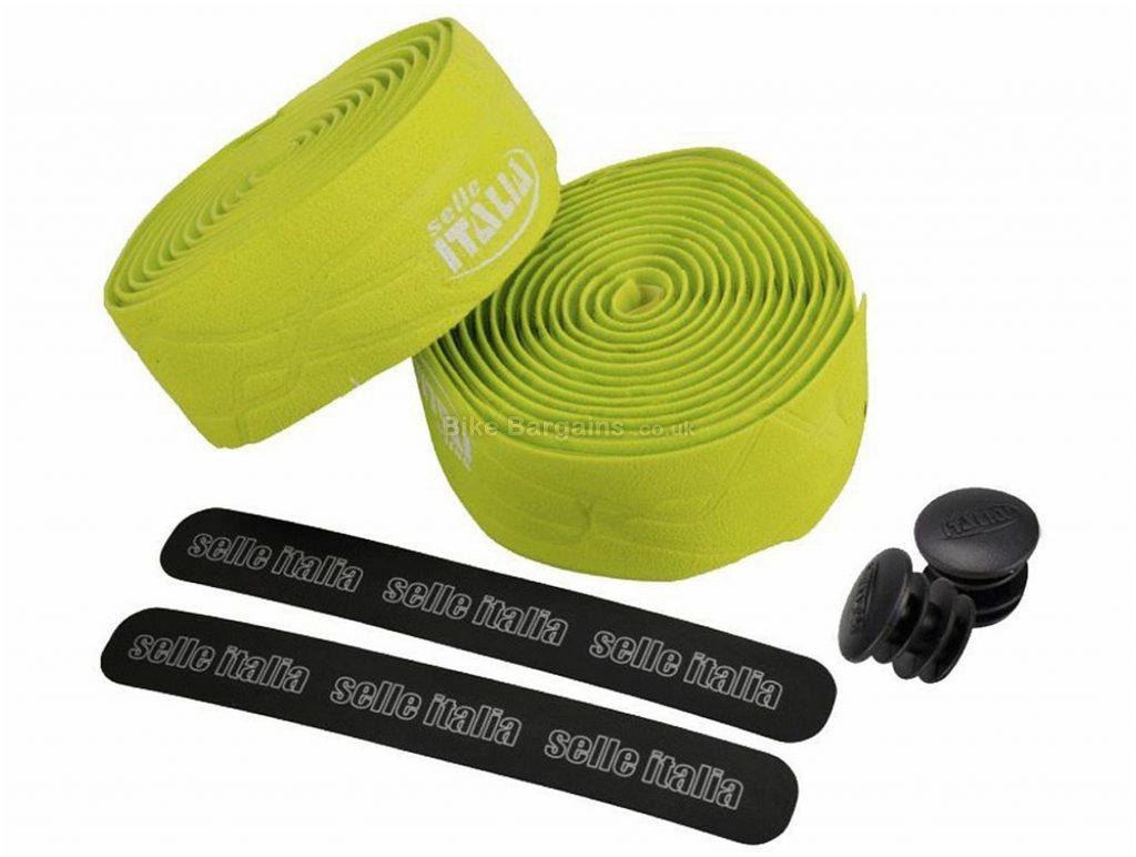 Selle Italia Gran Fondo Smootape Handlebar Tape 35mm, 180cm, Green, Black, 50g, Nylon, Rubber, Road usage
