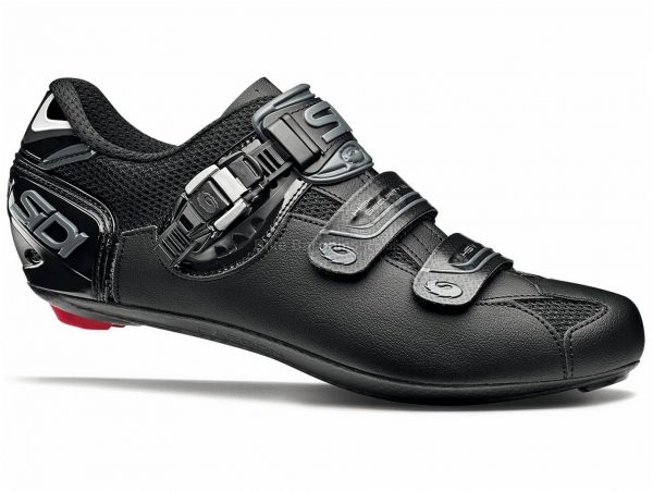 Sidi Genius 7 Shadow Road Shoes 38, Black, Men's, Buckle & Velcro Fastening, Carbon, Nylon