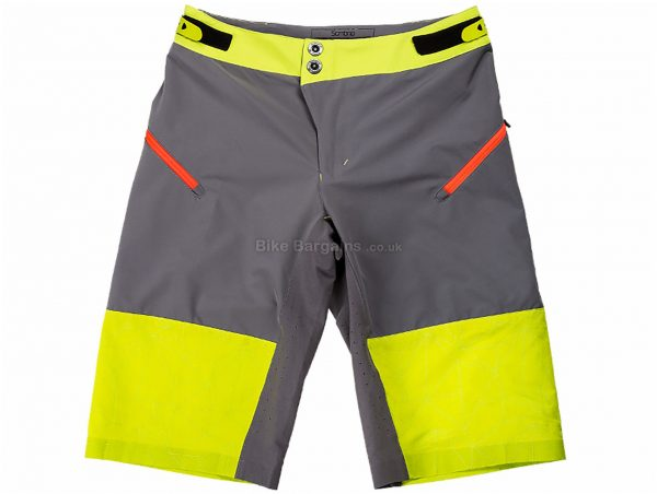 Sombrio Ladies Vista Shorts 2016 S, Black, Grey, Yellow, Ladies, Polyester, Spandex
