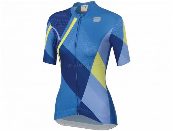 Sportful Ladies Aurora Short Sleeve Jersey L, Pink, Ladies, Short Sleeve, Polyester, Elastane