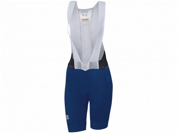 Sportful Ladies BodyFit Pro Bib Shorts XL, Blue, Brown, Ladies, Tight, Polyester, Elastane