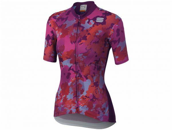 Sportful Ladies Loto Short Sleeve Jersey L,XL, White, Grey, Pink, Ladies, Short Sleeve, Polyester, Elastane