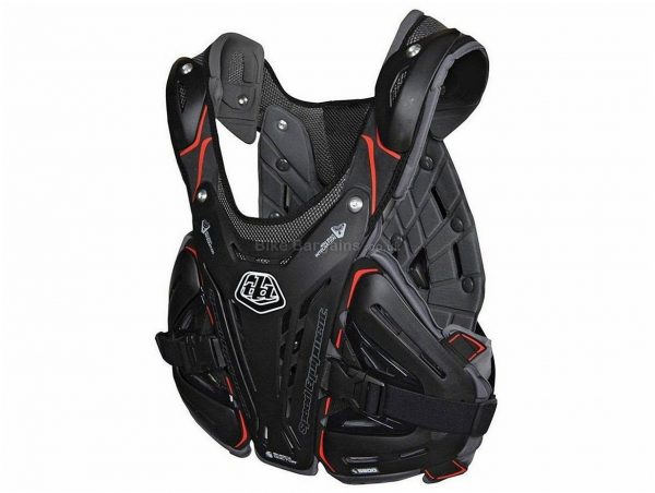 Troy Lee Designs 5900 Chest Protector M, White, Black, Nylon, Polyester