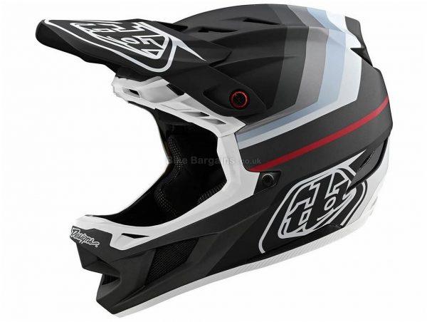 Troy Lee Designs D4 Composite Mirage Full Face MTB Helmet 2020 S, Black, Silver, Men's, 24 Vents, 1.05kg, Carbon