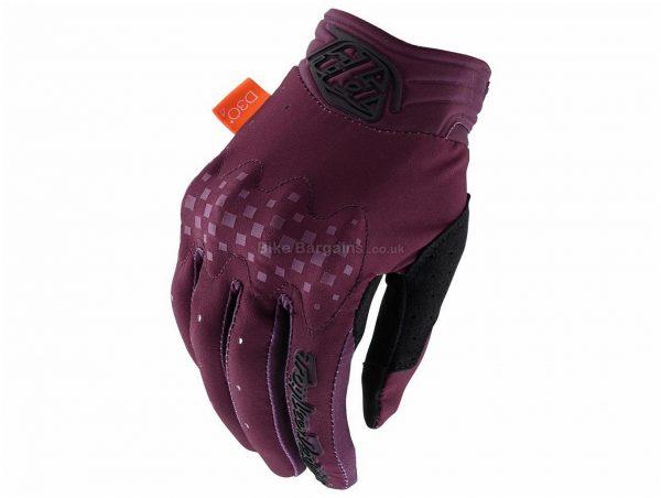 Troy Lee Designs Ladies Gambit Gloves 2020 M,L,XL,XXL, Purple, Blue, Black, Full Finger, Polyester, Nylon