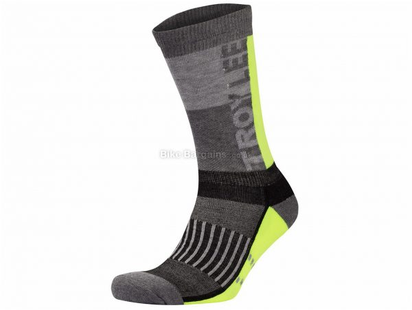Troy Lee Designs Performance Crew Socks 2019 L,XL, Yellow, Grey, Black, Men's, Nylon, Elastane