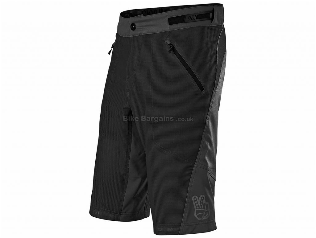 Troy Lee Designs Skyline Air Shell MTB Shorts 2020 30, Black, Men's, Baggy Fit, Polyester, Elastane
