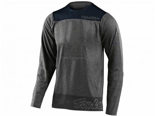 Troy Lee Designs Skyline MTB Long Sleeve Jersey 2020 S, Grey, Black, Men's, Long Sleeve, Polyester Elastane