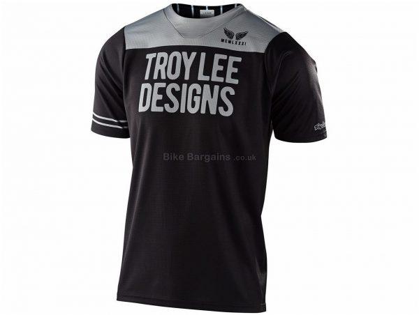 Troy Lee Designs Skyline Short Sleeve Jersey 2020 XL, Black, Grey, Men's, Short Sleeve, Polyester