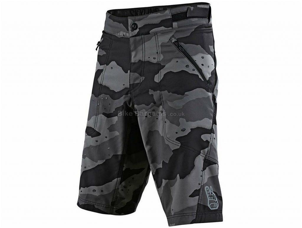 """Troy Lee Designs Skyline V2 Lined Shorts 38"""", Grey, Black, Men's, Baggy, Polyester, Velcro"""