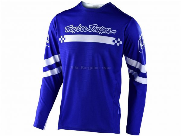 Troy Lee Designs Sprint Long Sleeve Jersey 2020 L, Blue, Red, Men's, Long Sleeve, Polyester