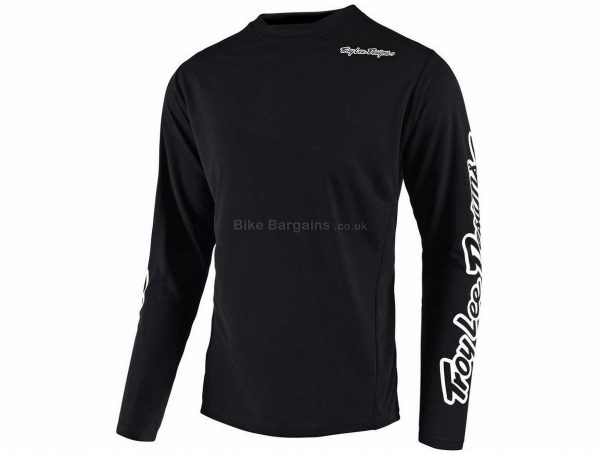 Troy Lee Designs Sprint Youth MTB Long Sleeve Jersey 2019 M, Black, Long Sleeve, Polyester