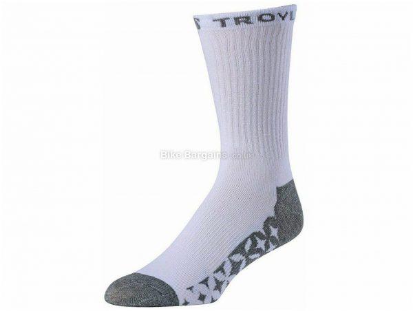 Troy Lee Designs Starburst Crew Socks 3 Pack L,XL, White, Unisex, Polyester, Nylon, Elastane