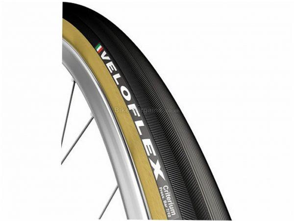 Veloflex Criterium Tubular Road Tyre 700c, 23c, Black, Brown, 255g, Rubber