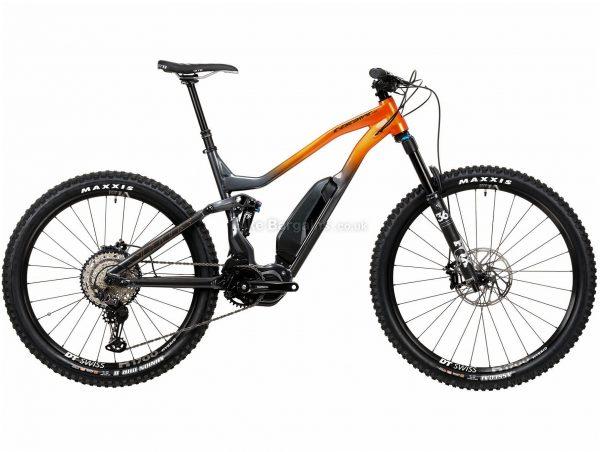 "Vitus E-Escarpe VRS XT 1x12 Alloy Full Suspension Electric Mountain Bike 2020 M, Grey, Orange, Alloy Frame, 29"" Wheels, Full Suspension, Disc Brakes, Single Chainring, Men's, 12 Speed"