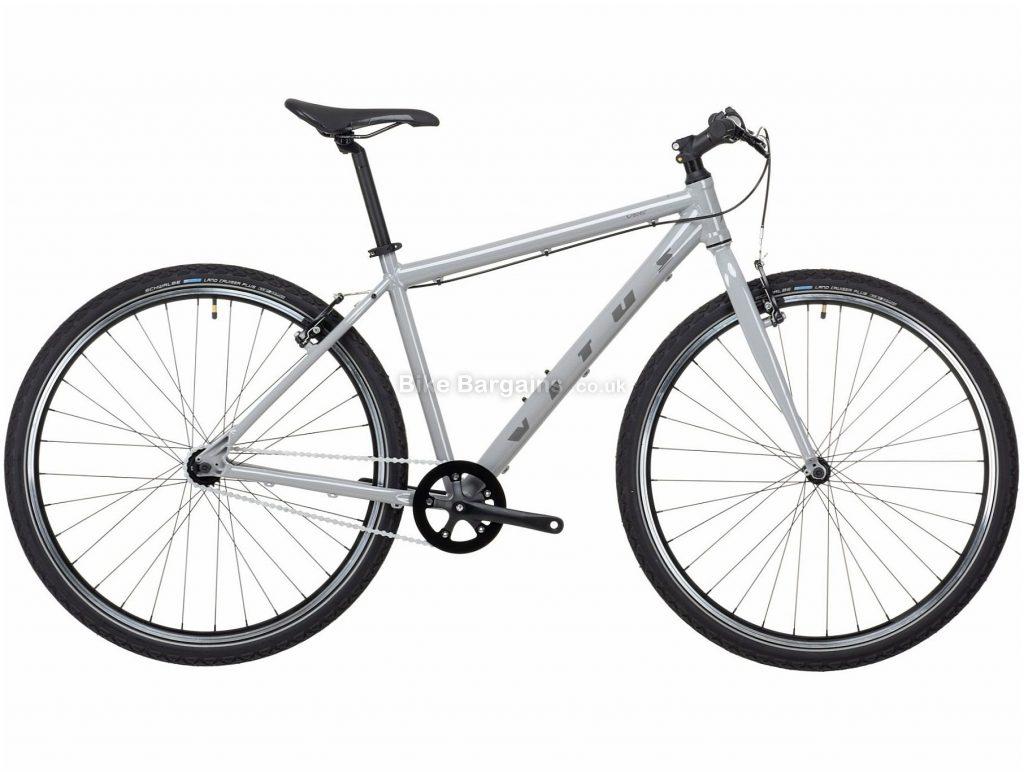"Vitus Vee Alloy City Bike 2021 M,L, Grey, Alloy Frame, Single Speed, Caliper Brakes, 29"" Wheels, Single Chainring"