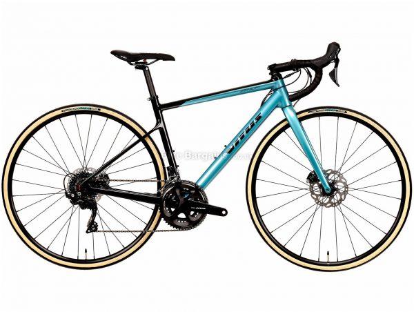 Vitus Zenium CRW 105 Ladies Carbon Road Bike 2020 L, Turquoise, Black, Carbon Frame, 700c Wheels, Disc Brakes, Double Chainring, Ladies, 22 Speed, 9.3kg