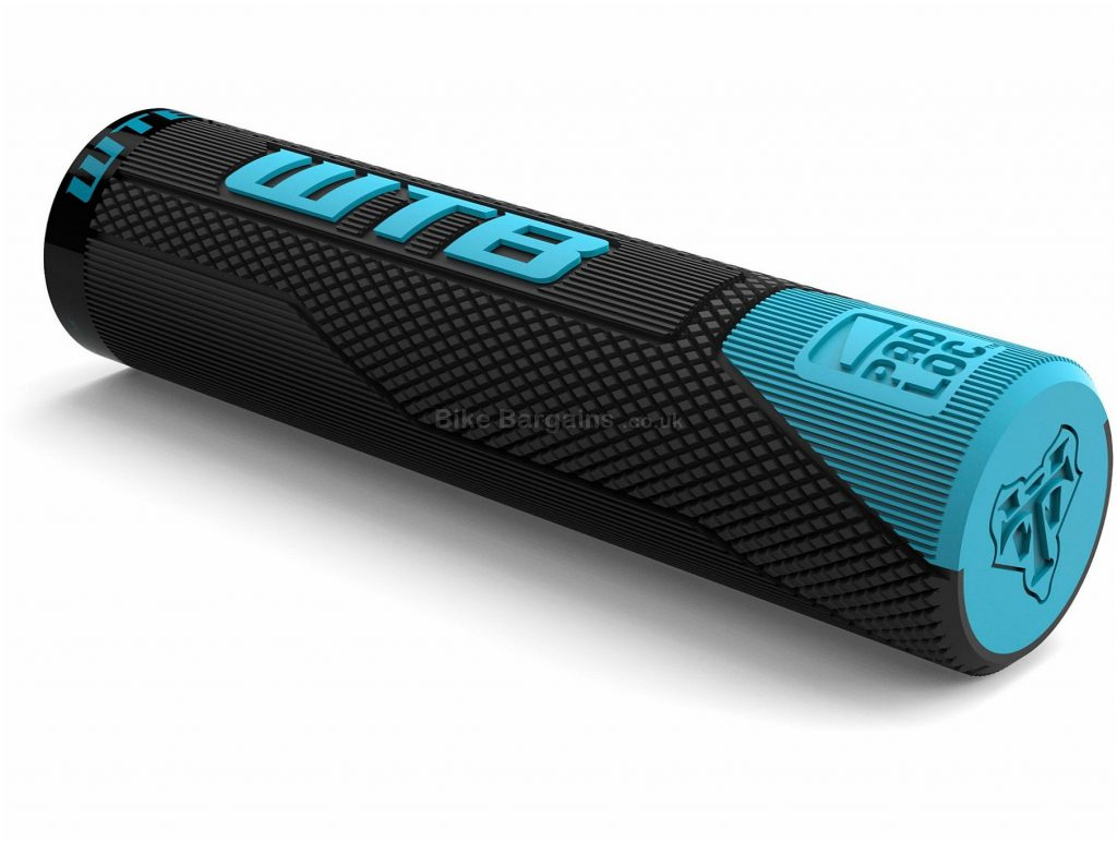 WTB Padloc Clydesdale Grips 135mm, Black, Turquoise, Rubber
