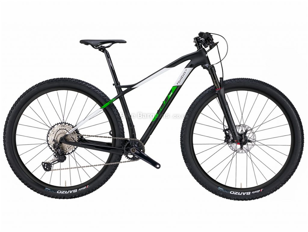 """Wilier 101X NX Carbon Hardtail Mountain Bike M, Black, Green, White, Carbon Frame, 29"""" wheels, Hardtail, Front Suspension, 12 Speed, Single Chainring, Disc"""