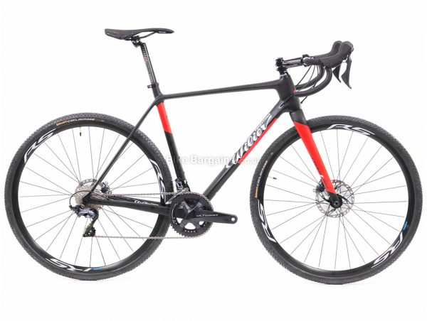 Wilier Cento1 Cross Disc 105 Carbon Cyclocross Bike L, Black, Red, Carbon Frame, 700c, Disc, 22 Speed, Double Chainring
