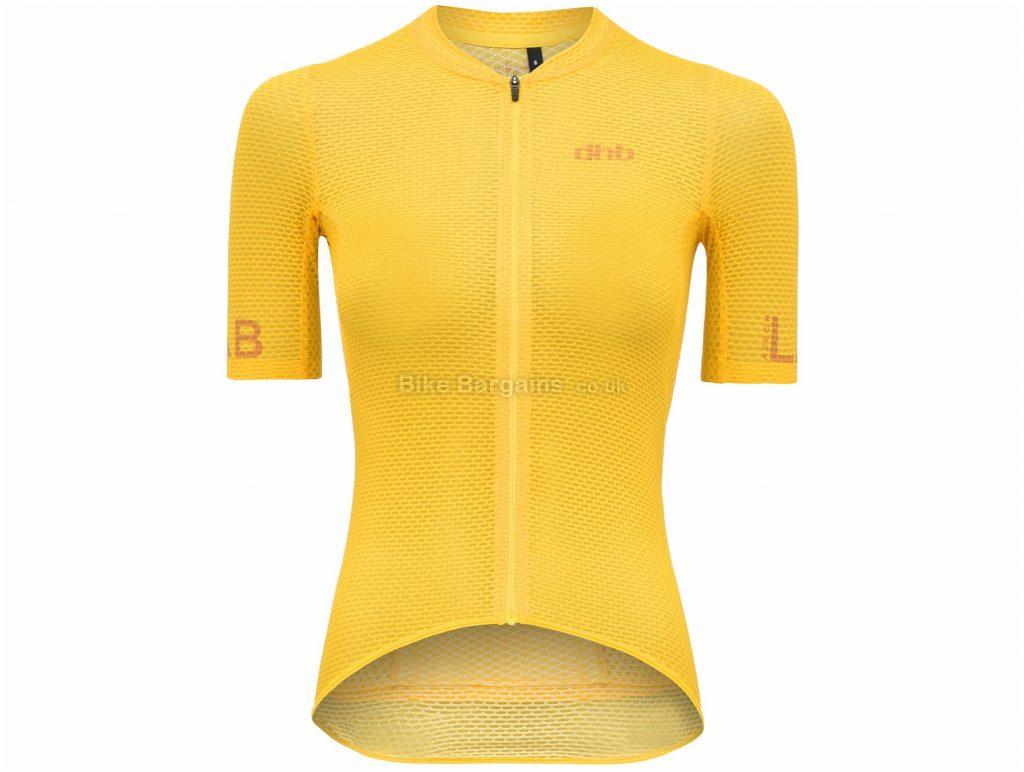 dhb Aeron Lab Ladies Ultralight Short Sleeve Jersey 12,14,16, Yellow, Ladies, Short Sleeve, Polyester, Elastane