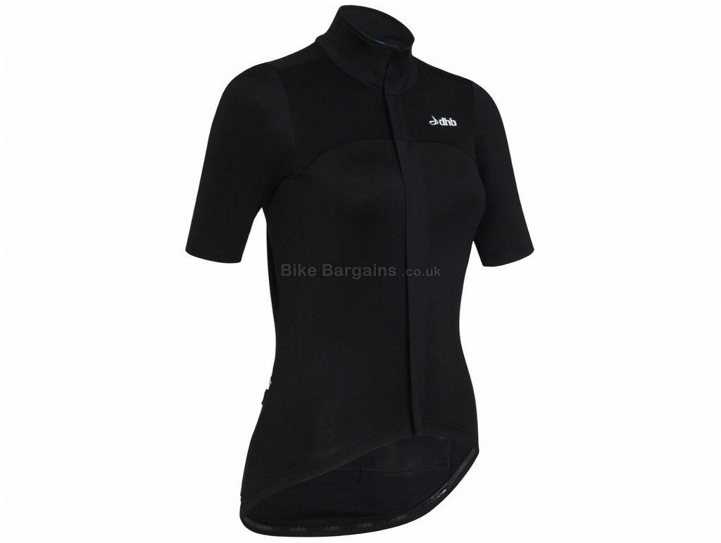 dhb Aeron Ladies RD Short Sleeve Jersey 10,12,14,16, Black, Ladies, Short Sleeve, Polyester, Elastane