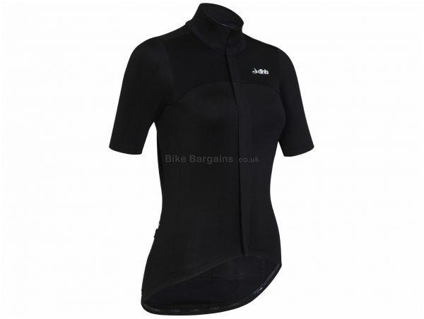 dhb Aeron Ladies RD Short Sleeve Jersey 16, Black, Ladies, Short Sleeve, Polyester, Elastane