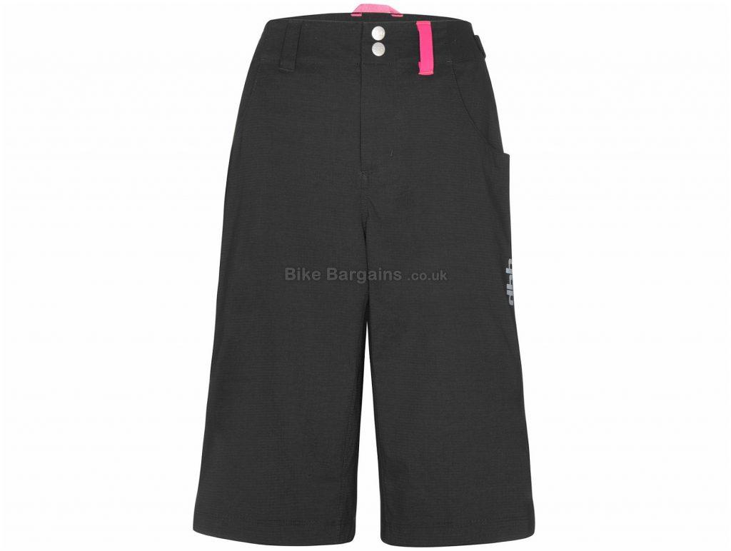 dhb Ladies Lightweight MTB Trail Stretch Shorts 8, Black, Ladies, Baggy, Polyamide, Elastane, Polyester