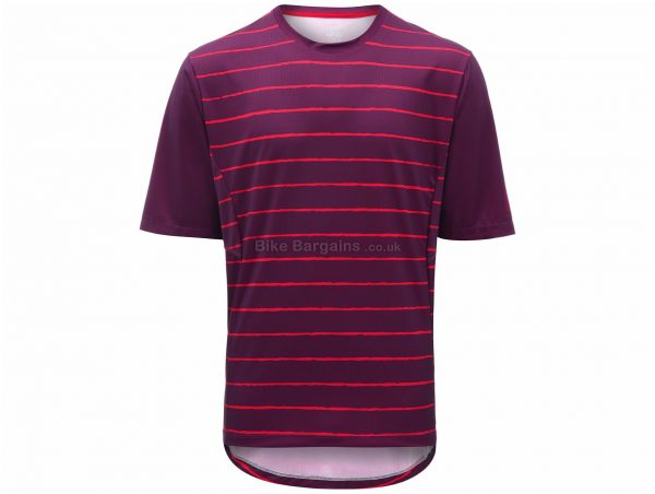 dhb Trail Stripe MTB Short Sleeve Jersey M, Blue, Men's, Short Sleeve, Polyester