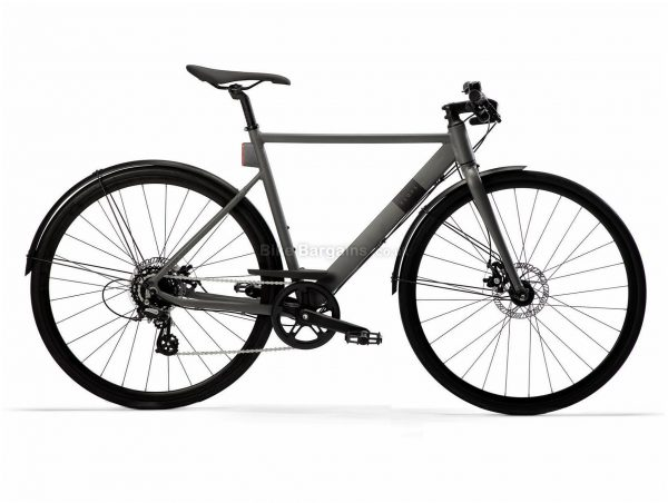 B'Twin Elops Speed 900 Urban Alloy City Bike M, Grey, Alloy Frame, 8 Speed, 700c wheels, Disc, Single Chainring