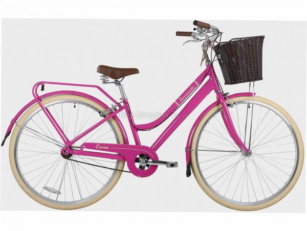 "Barracuda Carina Alloy City Bike 19"", Pink, Alloy Frame, 700c wheels, 7 Speed, Caliper Brakes, Single Chainring, Rigid"