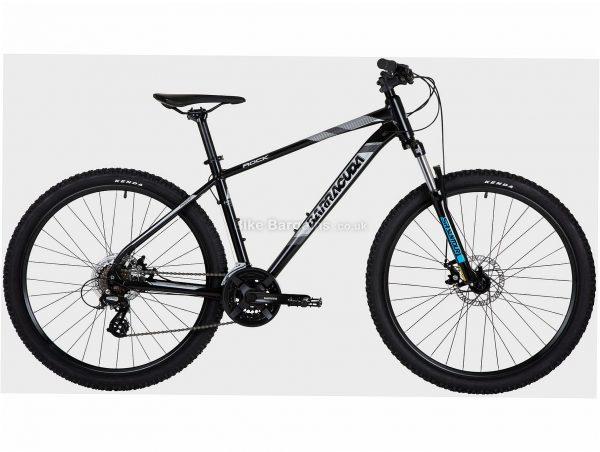 "Barracuda Rock Alloy Hardtail Mountain Bike 18"", Black, Grey, Alloy Frame, 27.5"" wheels, 21 Speed, Disc Brakes, Triple Chainring, Hardtail, Suspension"