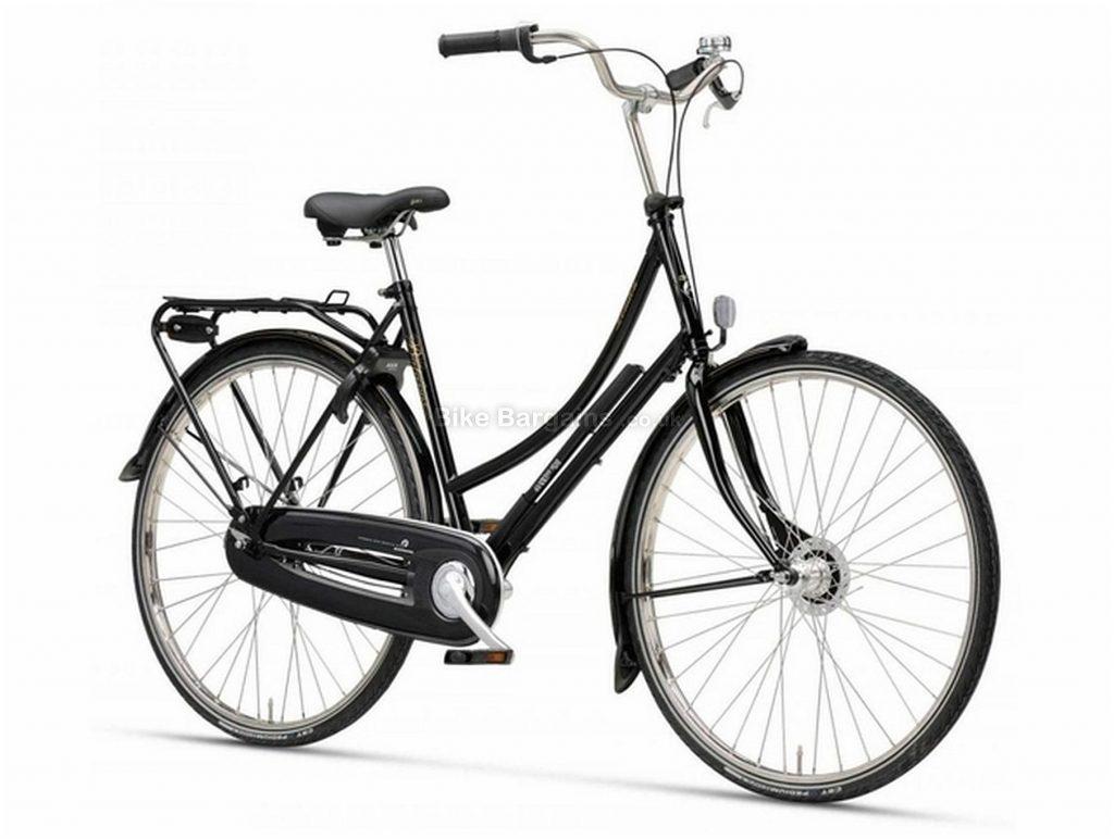 Batavus London Vintage Ladies Steel City Bike 2020 50cm,58cm, Black, Steel frame, 7 Speed, 700c wheels, Caliper Brakes, Single Chainring, Rigid Frame