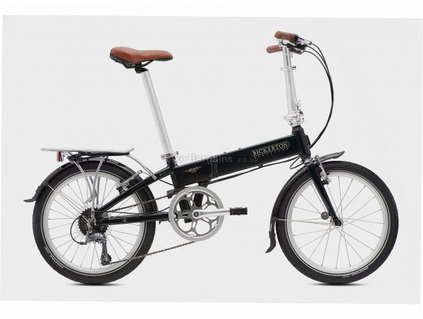 "Bickerton Argent 1808 Country Folding Alloy City Bike M, Black, Alloy Frame, 20"" wheels, 8 Speed, Caliper Brakes, Single Chainring, Rigid, 13kg"