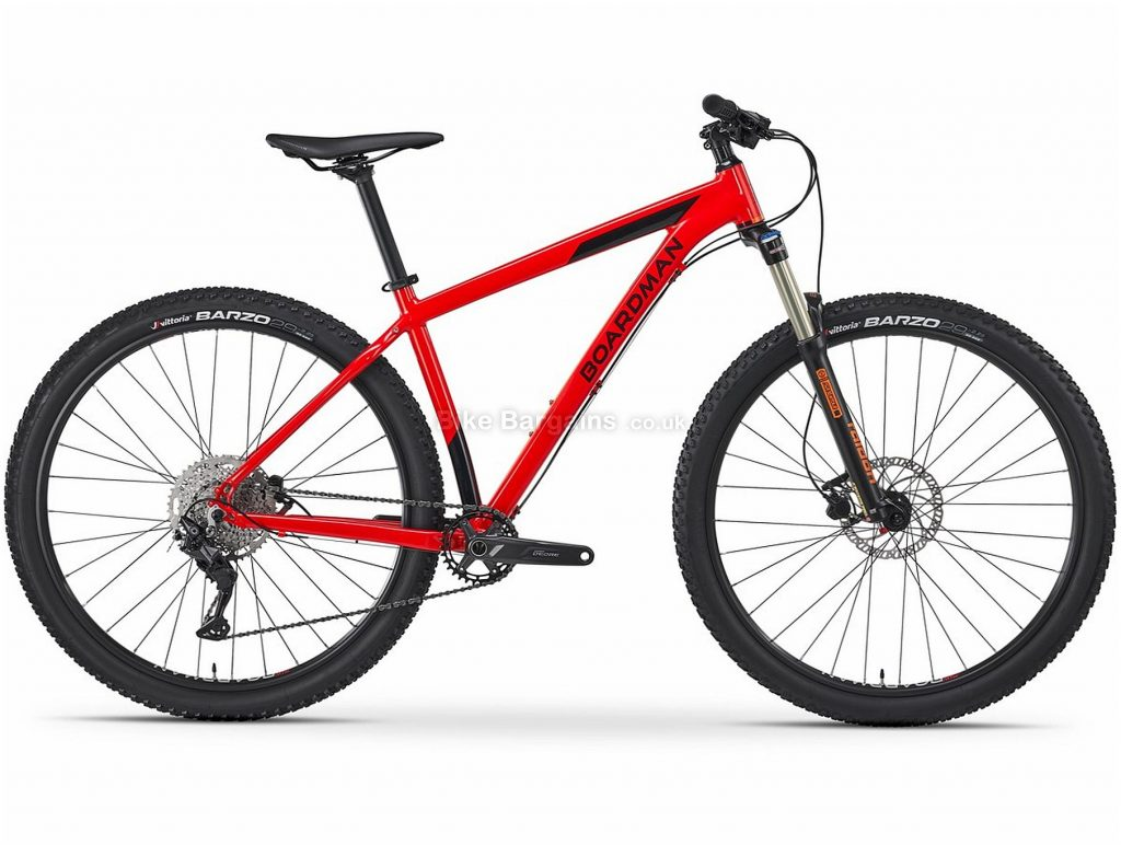 "Boardman MHT 8.6 Alloy Hardtail Mountain Bike 2021 S,M,L, Red, Alloy Frame, 29"" Wheels, Disc Brakes, 10 Speed, Single Chainring, Hardtail, Suspension Forks, 13.5kg"