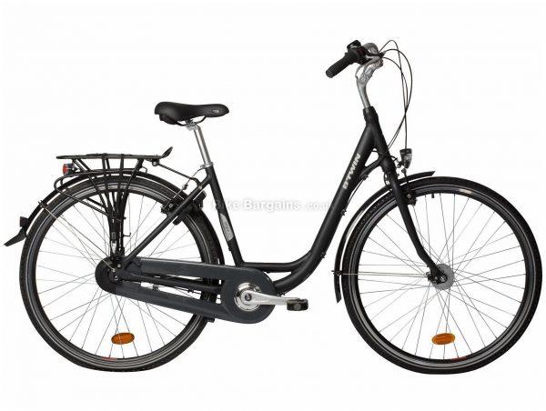 B'twin Elops 920 Alloy City Bike L,XL, Black, Alloy Frame, 700c Wheels, 17kg, 7 Speed, Caliper Brakes, Single Chainring