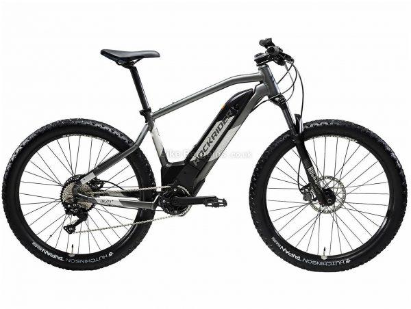 "B'twin Rockrider 27.5"" E-ST 900 Alloy Hardtail Electric Mountain Bike S, Grey, Black, Alloy Frame, 27.5"" Wheels, 21.9kg, 10 Speed, Disc Brakes, Single Chainring"