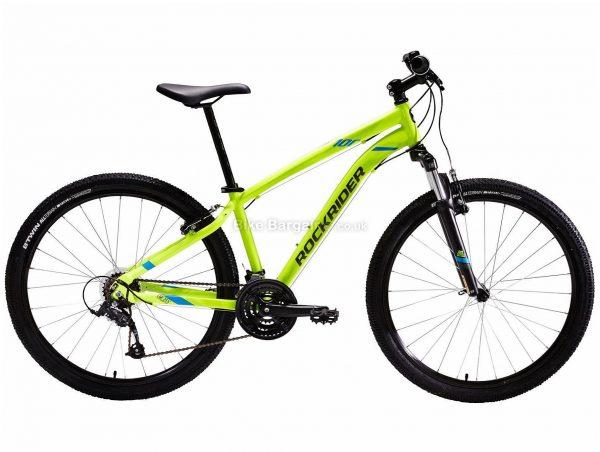 "B'twin Rockrider 27.5"" ST 100 Alloy Hardtail Mountain Bike S,M,L,XL, Grey, Yellow, Alloy Frame, 27.5"" Wheels, 15.3kg, 21 Speed, Caliper Brakes, Triple Chainring"