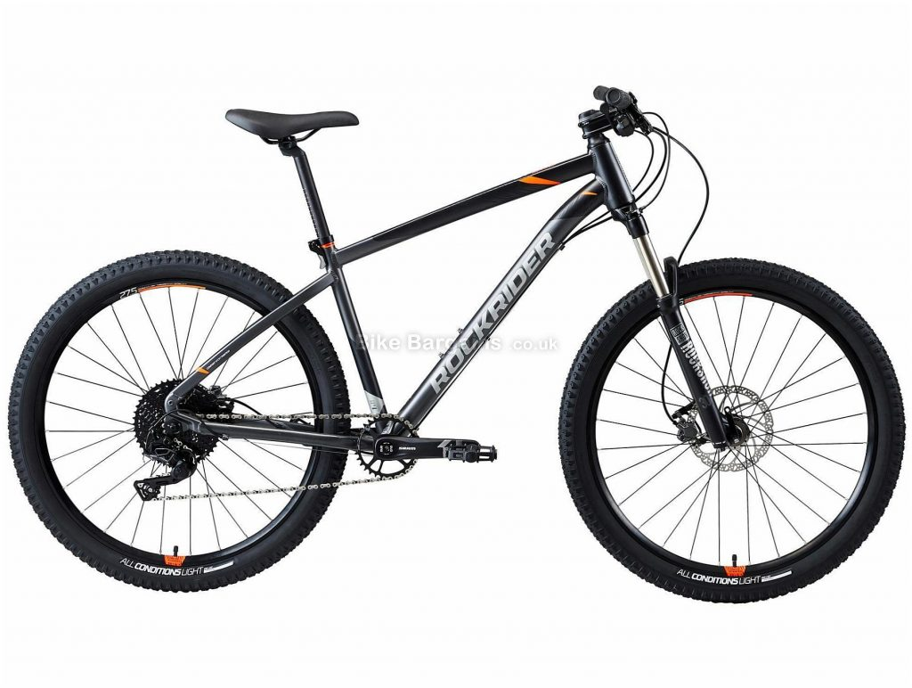 "B'twin Rockrider 27.5"" ST 900 Alloy Hardtail Mountain Bike XL, Grey, Red, Black, Alloy Frame, 27.5"" Wheels, 12.85kg, 11 Speed, Disc Brakes, Single Chainring"