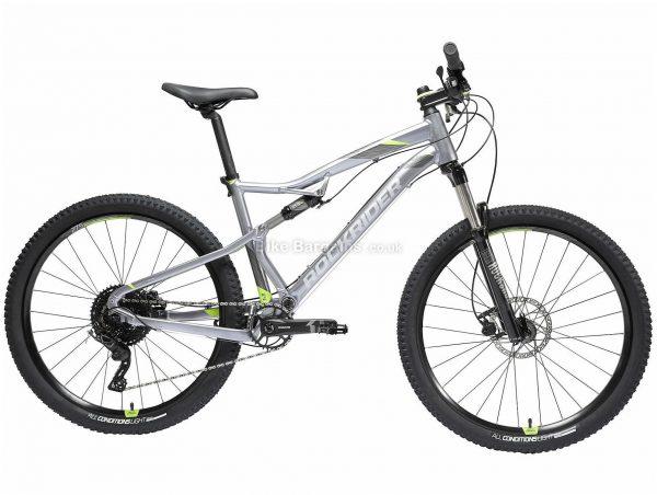 "B'twin Rockrider 27.5"" ST 900 S Alloy Full Suspension Mountain Bike L,XL, Grey, Black, Alloy Frame, 27.5"" Wheels, 13.95kg, 11 Speed, Disc Brakes, Single Chainring"