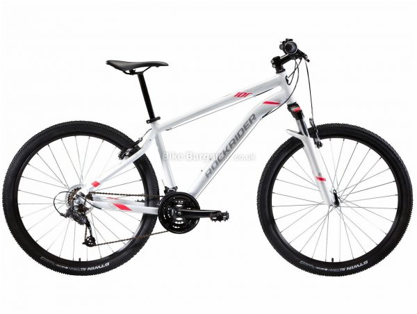 "B'twin Rockrider Ladies ST 100 27.5"" Hardtail Mountain Bike S,M,L,XL, White, Alloy Frame, 27.5"" Wheels, 15.3kg, 21 Speed, Caliper Brakes, Triple Chainring"