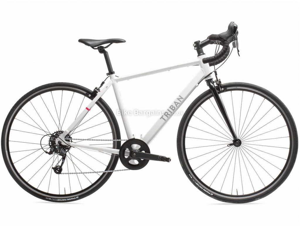 B'twin Triban Ladies Easy Alloy Road Bike M,L, White, Alloy Frame, 700c Wheels, 10.8kg, 8 Speed, Caliper Brakes, Single Chainring